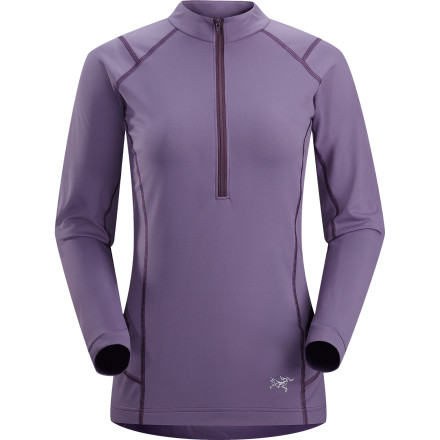 Camp and Hike Rely on the Arc'teryx Women's Ensa Zip Neck Long-Sleeve Top to keep you comfortable during overcast spring days while you trail run or hike. This technical, athletic-fit top manages moisture and helps regulate your body temperature so you're not a sweaty mess on the uphill sections and a chilled icicle on shady downhill sections. - $98.95