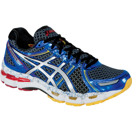 Fitness The Asics Men's GEL-Kayano 19 Running Shoe is nearly a half-ounce lighter than its predecessor, but it doesn't cut corners when it comes to fit or support. The lightweight, flexible upper keeps things cool and comfortable, while the exoskeletal heel counter enhances the fit and the Dynamic Duo Max dual-density midsole offers the structured cushioning that neutral runners and mild overpronators appreciate. - $149.95