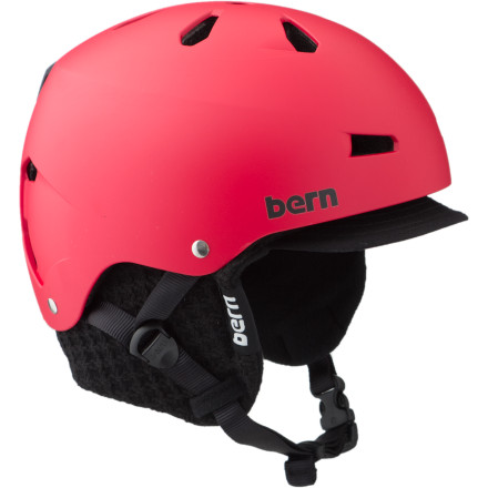 Snowboard Sun up to sun down you shred concrete and snow or water and concrete, and you need a helmet for all of the above. The Bern Macon EPS Helmet with removable liner is just the four-season helmet for the job. Just pop out the knit liner in the summer, hit the water or the street and, when colder weather rolls in, clip the liner back in for warmth. Bern made this Thin Shell bucket 20% lighter than last season's model, so protecting your neck (and dome) feels extra-easy. - $54.97