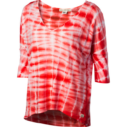 Surf Reach for the Billabong Women's By My Side V-Neck 3/4-Sleeve Shirt when you don't have time to be indecisive and you need a fresh look for work at the local surf shop. - $27.62