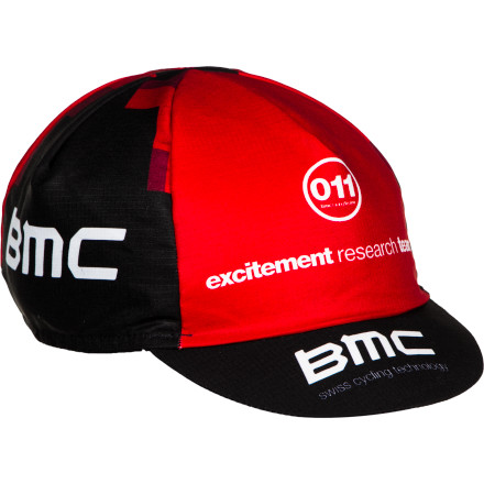 Fitness 2011 was a great year for the U.S.-registered BMC Cycling Team. At just their second Tour, the team sent Cadel Evans down the Champs-Elysees in yellow. You can celebrate that achievement, and achievements to come, by wearing the same BMC Cycling Cap that was supplied to the team in year MMXI. Made of durable ripstop nylon, the BMC cycling cap is lightweight and has a low profile. So, it fits comfortably under your helmet, and it takes the edge off of the elements without cooking your cranium. The plastic, stay-true bill maintains its shape, even in overly stuffed gear bags. The BMC 2011 Cycling Cap is available in one color and is one-size-fits-most. - $4.12