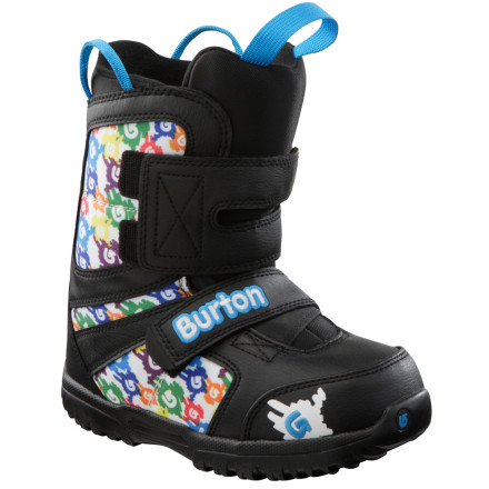Snowboard Get your grom or gromette ready to shred with the newbie-friendly Burton Kids' Grom Snowboard Boot. Burton keeps it simple with an insulated liner-less design that flexes easily to enable quick progression and easy hiking. - $39.98