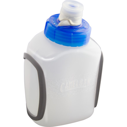 Camp and Hike For quick, easy hydration, nothing beats the Camelbak Podium Arc 8oz Water Bottle. The Podium Arc easily fits in the palm of your hand. Its ultralight design and smart, self-sealing Jet Valve make it easy to carry and easy to use without any spills or mess. - $17.95