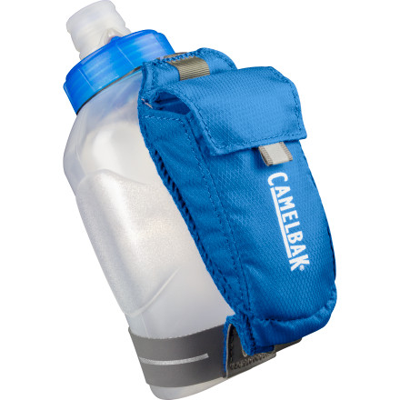 Camp and Hike The Camelbak Arc Quick Grip makes carrying water fun. Well, that might be an exaggeration, but it's easier than carrying a bare bottle. It also has a handy pocket for your keys or your phone. Camelbak even included reflective elements so you're more visible at night. - $19.95