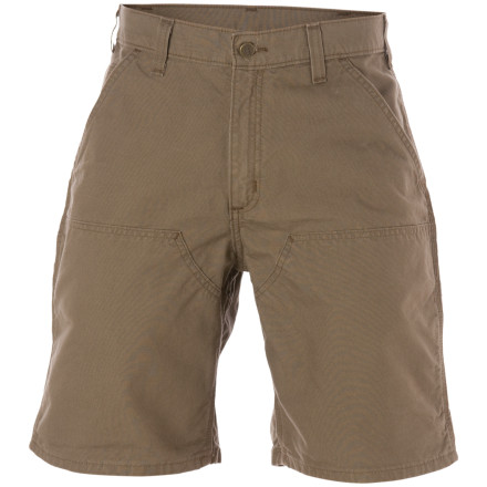That house isn't going to frame itself, so pull on the relaxed-fit Carhartt Men's Double-Front Work Short, stash some tools in the utility pockets, and get the job done. Carhartt supplied these shorts with plenty of pockets for tools, including a ruler pocket and a hammer loop. Chap-style double-front panels can take months of nailing plywood and spacing joists, and they won't wear down after repeated contact with your toolbelt. - $7.59
