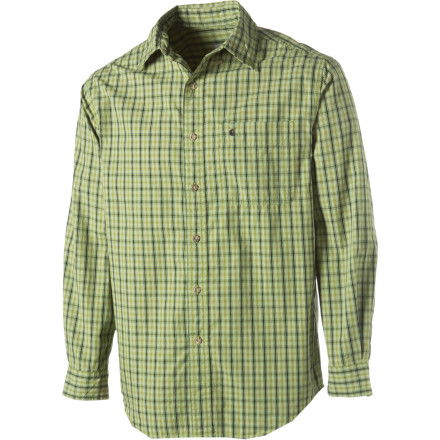 Button up in your Carhartt Classic Plaid Long-Sleeve Shirt when you want a laid-back, versatile style that works with pretty much anything. This button-down shirt is great for relaxed dinner dates or casual workdays. - $19.98