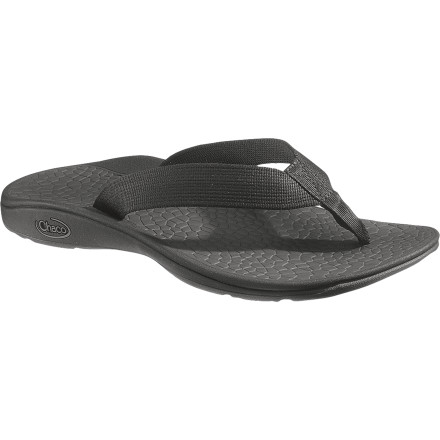 Surf Whether you're getting the boat ready or exploring well-worn rainforest pathways, the Chaco Men's Fathom Flip-Flops provide good traction and support. And thanks to the intelligently designed straps, the Fathoms prevent the annoying flopping sound while you spray down your boat or check out the beachside scene. - $53.96