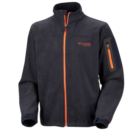 Ski Shoot down the cold with the double-barreled Columbia Men's Thermarator Fleece Jacket. The Thermarator brings full-bore warmth thanks to not only its toasty fleece, but also its Omni-heat thermal reflective lining. Wear it solo on missions about town or on hiking trails, or snap it into your ski shell to patrol the slopes. - $39.98