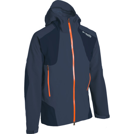 Every three-season jacket that's worth its weight has venting zips and waterproof breathable fabric, but only the Columbia Men's Triple Trail Shell also boasts a thermal-reflective lining that helps keep you warm without bulky insulation. A combination of nylon and stretchy elastane keeps this jacket lightweight and easily packable, making it the perfect choice for trekkers who push through nasty Fall weather or backcountry skiers in need of a performance shell that easily shrugs off winter's gnarliest days. - $119.98