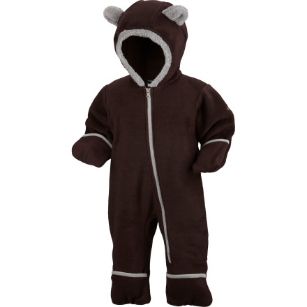 Hunting Even though the Columbia Infant Boys' Tiny Bear Bunting features an asymmetrical zipper that makes it easy for you to get him in and out of it, your little tyke will just want to hibernate in it all winter long. - $19.47