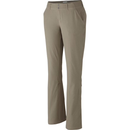 Camp and Hike Whether you're harvesting vegetables from your own garden or exploring little-known flea markets, suit up in the Columbia Women's Global Adventure Adjustable Pant. The Omni-Shield technology allows the pant to dry quickly and resist stains while the roll-up legs quickly convert the pant into a pair of summer-friendly capris. - $51.96