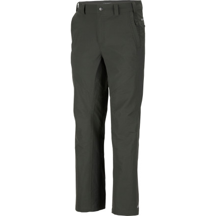 Camp and Hike Rugged, stretchy, and protective, the Columbia Men's Cool Creek Stretch Cargo Pant has your every on-trail need covered. With water-repellent treatment and UPF 50 sun protection, this active-fit hiking and climbing pant with gusset detail is all about comfortable, outdoor action. - $44.96