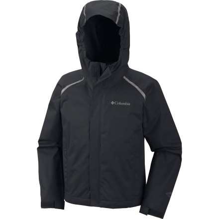 When your kid zips up in the Columbia Boys' Chromatech Rain Jacket, he won't be stuck inside every time it rains. Omni-Tech keeps him dry so he can play in a drizzle without getting soaked, and the packable design means he can take it anywhere. - $56.21