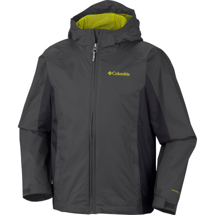 When the rain is coming down in sheets before the big soccer game, have your boy zip up the Columbia Boys' Wet Reflect Jacket before heading to the field. The nylon shell and storm hood shrug off wet weather, and the soft polyester mesh lining wicks away excess moisture during the warm-up drills. - $37.46