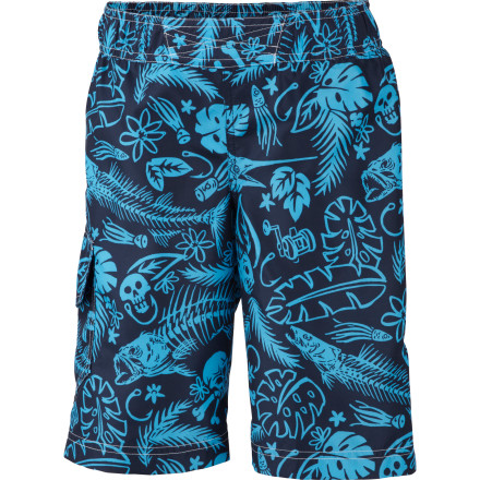 Surf Backyard water fights, canoe trips, and long summer days at the public pool all call for the Columbia Boys' Solar Stream Board Short. The polyester fabric dries out in a snap and the integrated mesh brief keeps junior chafe-free and comfy. - $24.95