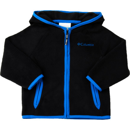A lightweight hoodie is a boy's best friend, so start him early with the Columbia Infant Boys' Fast Trek Fleece Hooded Jacket. Made from soft, smooth polyester microfleece, this versatile mini jacket adds coziness on those breezy summer nights, during shoulder season, or when you head for the high-altitude hills. Control the temp with the up-or-down full zipper and hood. - $26.21