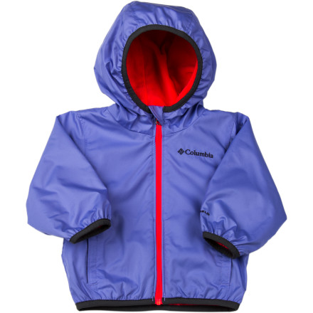 Take a bite out of chilly, damp weather with the water- and wind-resistant Columbia Infant Girls' Mini Pixel Grabber Wind Jacket. Its Omni-Shield advanced repellency tames the elements while the soft Superlight microfleece lining adds a touch of insulation. And an adjustable storm hood hugs your sweet girl's head with all that weather protection. - $34.95