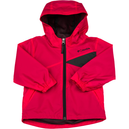 Fitness Let your little lady run with the wind in her hairor notin the Columbia Toddler Girls' Wind Racer II Jacket. With an adjustable storm hood, sheltering nylon shell, and windproof, weather-resistant Omni-Wind Block, she won't feel the chilling gales or drizzle as she frolics in the wild. And a mesh lining will keep her cool and dry when she works up a sweat. - $24.95