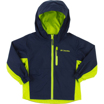 Rain or shine, your little guy is going to be playing hard in the backyard. Zip him up in the Columbia Toddler Boys' Big Jump II Jacket and you can be confident he'll stay dry and comfortable when the wind and rain arrive. The windproof nylon shell stands up to wet weather conditions and the Omni-Wick technology allows moisture to evaporate, so he doesn't feel cold and clammy. - $29.95