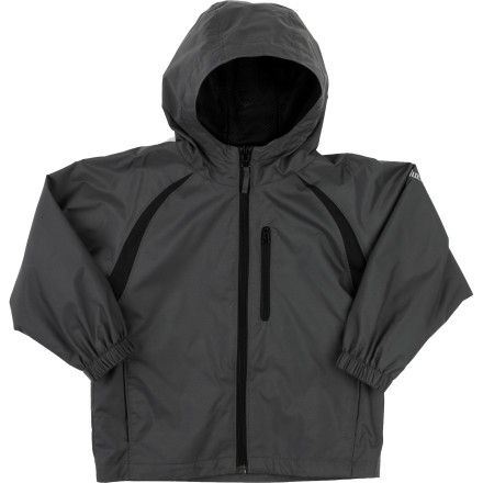 Fitness Let it rain, let it blow! The tiny yet high-tech Columbia Toddler Boy's Flow Summit II Jacket will keep your little outdoor adventurer dry and happy. With Omni-Wind Block windproof and water-resistant power and adjustable storm hood, he'll run amok no matter what the weather brings. A mesh lining keeps him cool and dry during warm temps or when he's working up a sweat. - $35.95