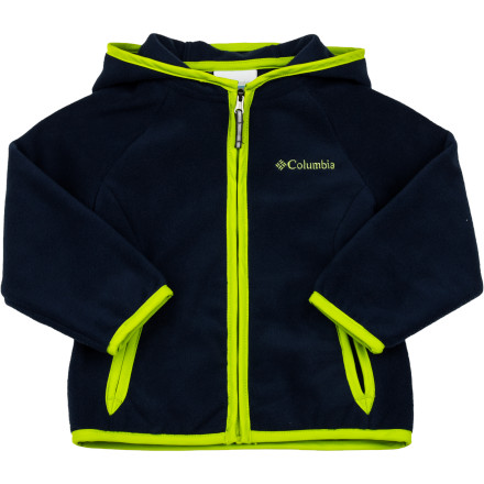 Everyone loves a cozy hoodie, including your active little lady, so Columbia made the soft, smooth Fast Trek Fleece Hooded Jacket for Toddler Girls. This versatile jacket goes to the park for when the sun goes down and the temps drop, the mountaintops in the summertime, or anywhere she may want a comfy layer with a head-hugging hood. - $26.21
