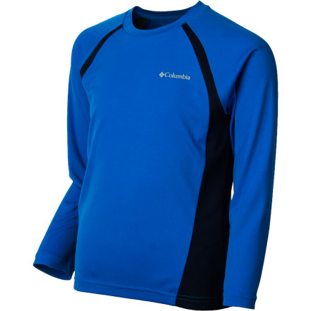 Camp and Hike The Columbia Boys' Silver Ridge II Tech Long-Sleeve T-Shirt helps him keep his cool when he's working up a sweat thanks to Omni-Wick tech and cool polyester pique fabric. This shirt will get him through summer hiking trips with the family and intense games of flag football in the backyard. - $18.71