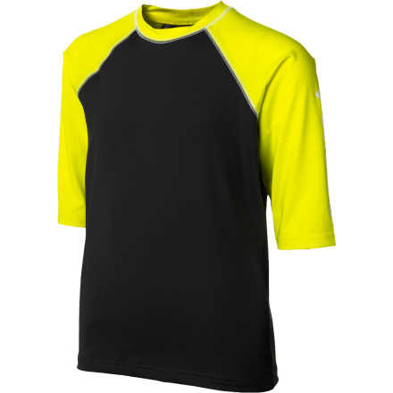 Sports Whether he is building forts, jumping bikes, or heading to baseball practice, have your boy pull on the Columbia Boys' Mini Breaker Sunguard Short-Sleeve Shirt. The soft polyester fabric is dries quickly, stretches so he can move freely, and has a UPF 50 protection factor to help him avoid harmful sunburn. - $18.71