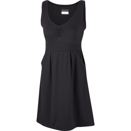 Entertainment Wearing a dress doesn't mean you have to sit still and look pretty; pull on the four-way stretch, sweat-wicking, active-fit Columbia Women's Splendid Summer II Dress, and get in the game. Easy-care cotton triblend jersey with cool, dry Omni-Wick feels soft and smooth against skin, and Omni-Shade UPF 30 protects against harmful sun rays. A flattering feminine silhouette ensures that no matter how hard you play you won't be mistaken for one of the guys. - $44.95
