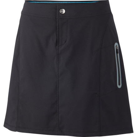 Camp and Hike Wear the Columbia Women's Just Right Skort when you want the casual comfort of a skirt and the ability to scramble over a shale slide without exposing  your underwear. This technical skort is great for camping, hiking excursions, and whenever you're on the move. - $43.96