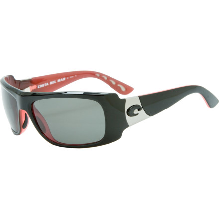 Camp and Hike The look of the Costa Del Mar Womens Bonita Polarized Sunglasses may scream uptown girl, but thanks to the 580 glass lens, the Bonitas can venture where no fashion shades dare to roam. On the high seas or snowy mountainsides, the patented 580 lens cuts out yellow light for deeper colors and sharper contrast, while the polarization reduces glare for better vision and reduced eye fatigue. You also enjoy the clarity of glass lenses, only without the weight; Costa LightWAVE glass is thinner and lighter for greater comfort when you are getting active. And we are not just talking bopping store to store. - $137.37