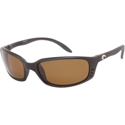 Camp and Hike Slip on the Costa Del Mar Brine Polarized Sunglasses when you head out for a day at the beach. The Brines Hyrdrolite temples and lightweight frame provide comfort for long days lounging in the sun. Polarized Costa CR 39 plastic lenses block glare off the water and resist scratching when drop 'em in the sand. - $97.27