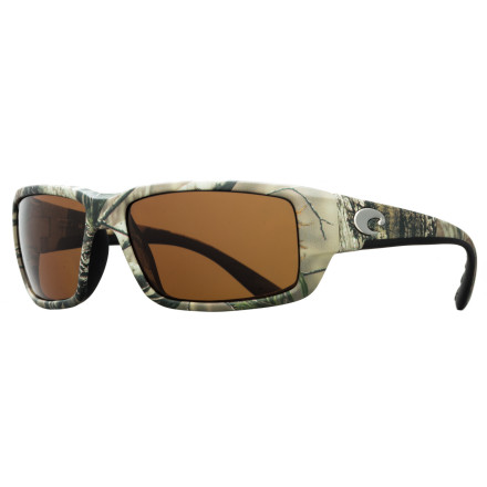 Camp and Hike Featuring impact and scratch resistant 580P lenses, the Costa Del Mar Fantail Realtree Polarized Sunglasses are built to stand up to the rigors of being on the water while providing the immaculate glare free vision that has made Costa the go-to choice for serious fishermen. The burly nylon frame is injected with Hydrolite rubber for a non-slip hold and a comfortable fit you can wear all day. - $178.95