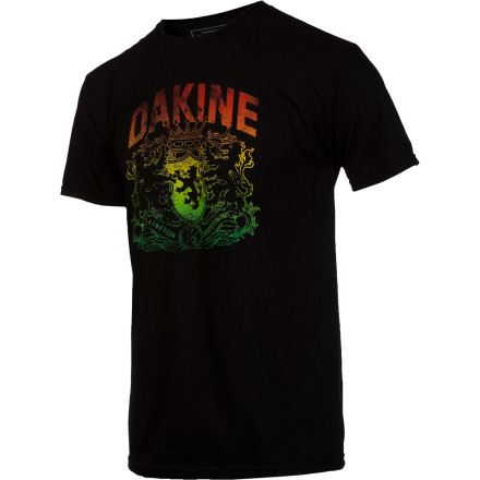 Surf The Dakine Men's Lion Crest Short-Sleeve T-Shirt is as awesome as a 300-year-old traditional brew. - $19.95