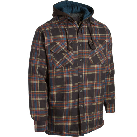 The Dakota Grizzly Tioga Shirt features a built-in hoodie lining to keep you toasty warm no matter how far you are from civilization. It's also a lot easier (and less messy) than hiding inside a recently-butchered animal's innards to stay warm. - $27.58