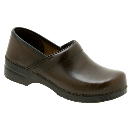 When you have meetings all day long, look to the Dansko Men's Professional Clogs. These clogs reduce strain on your legs and feet when you have miles to go before you sleep. The Professional Clogs' leather upper provides a dressy look, and the toe box construction adds durability while giving your toes room to move around. An antimicrobial lining absorbs moisture and blocks foot funk, and the heel design allows your heel to move naturally up and down as you walk to the office. The Professional Clogs' outsole absorbs shock, so you can stay on your feet longer. - $62.48