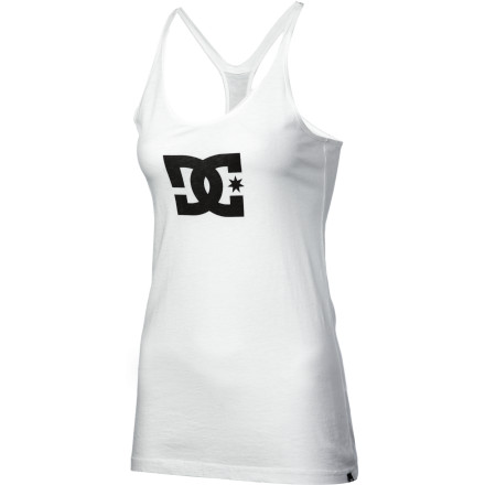 "Skateboard We like to call the DC Tstar Racerback Tank Top ""skater lingerie."" But whether you wear this cami with some cheeky boy briefs while getting frisky or with your favorite skate pants while getting gnarly, you'll look cute and feel comfortable. - $24.00"
