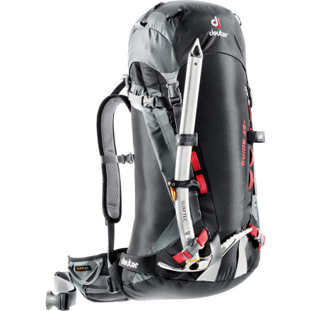 Ski The Deuter Guide 35+ Backpack can be tailored to suit the needs of technical alpine climbers, backcountry skiers, or both in ski-mountaineering scenarios. Air channeled foam strips provide comfort and ventilation while the innovative Variflex hip-belt pivots with your body's movements, allowing you to maintain balance while climbing or ripping turns. The hip-belt gear loops keep equipment close at hand, and the side-access zipper allows you to grab your puffy without dumping everything out in the snow. - $159.00