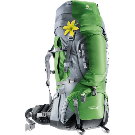 Camp and Hike Multi-day trips into the wild require a steady, sturdy packhorse that can shoulder an expanded kit; the Deuter Women's Aircontact Pro 65+15 SL Backpack provides the capacity, convenience, and burly, comfy construction you need when an overnighter just won't do. A women-specific fit and Aircontact Pro system keeps you drier, cooler, and more comfortable and provides a precise, ergonomic fit for proper load-carrying day after day. Two large reservoir-holding pockets keep you hydrated as you haul, and top and bottom access makes pit stops hassle-free. - $339.00
