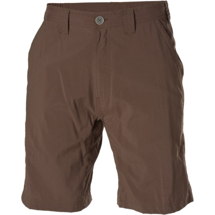 Camp and Hike Living life on the go means that you need clothes that are ready to do the same. The ExOfficio Nomad Short comes with plenty of travel-ready features to make your travels go smoother and an extra-soft peach finish should you meet a beautiful stranger at the hotel bar. - $59.95