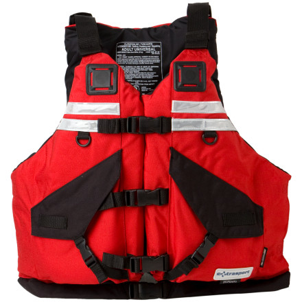 Kayak and Canoe Thanks to crazy buoyancy and a comfortable Glidefit, the Extrasport Universal HiFloat Personal Flotation Device keeps you above the water line without that I'm-encased-in-a-block-of-Styrofoam feeling. This PFD also fits nearly anyone, as it works for chest sizes ranging from 30 to 56 inches. The GlideFit uses two different thicknesses of foam that glide on top of each other so you stay comfortable while you paddle and so you aren't overwhelmed with bulk. Two large cargo pockets hold your essentialsa map, sunscreen, and a flip line. Extrasport also gave this PFD reflective tape so people can see you easily in rescue situations. - $179.95