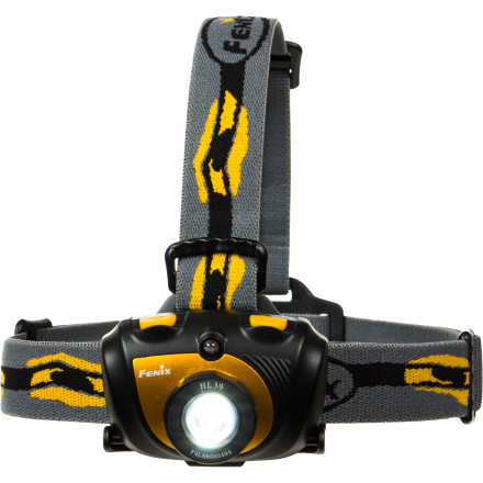 Climbing Whether you're under the hood working on your car or starting up the trail for a weekend camping excursion, the full-featured Fenix HL30 Headlamp provides the powerful hands-free lighting you need for the job. With a maximum 200 lumen output, the HL30 can cast a beam 131 feet into the darkness and the Broad Beam System completely illuminates the immediate area. A total of six settings gives you options for every lighting situation and the water-resistant protection prevents you from being stranded in the dark when a rain shower rolls through. - $44.95