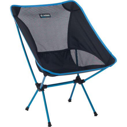 Camp and Hike Set up base camp, whip out the Helinox Chair One Camp Chair, and suddenly your friends will regret their decision to sit on the ground or pull up a stump. This comfortable little chair uses a mesh seat suspended on a lightweight aluminum frame. Easy to setup and easy to break down, the Chair One Chair is ideal for car camping or even overnight backpacking trips when you want a little extra luxury around the camp fire. - $89.95