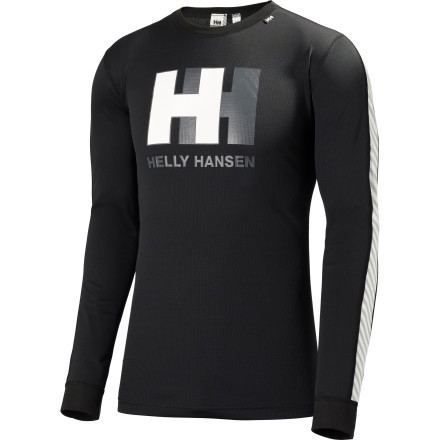 Ski You like to keep things simpleyou don't have a quiver full of skis, and you don't have a drawerful of tops for any occasion. Why should you, when the Helly Hansen Men's One Graphic Long-Sleeve Shirt does it all, no matter what you have planned' This versatile two-layer top sucks up moisture from your skin and transports it to the thermal layer for ultra-comfortable warmth whether you're sitting on exposed chairlifts or boot-packing up to the ridge. And with its great graphic, it also serves for eye-catching aprs wear, too. - $31.98