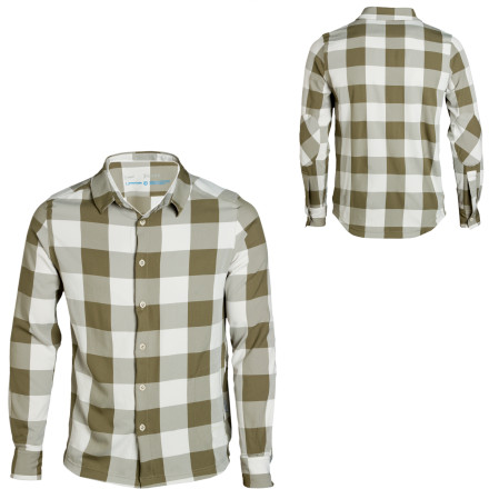 The Houdini Men's Farmer Long-Sleeve Shirt gives you a clean look while its hidden passport-sized pocket stashes your moolah and ID. Travel can be such a pain sometimes, but when you sport this quick-drying, breathable, moisture-wicking shirt, you stay more calm and cool. Its anti-odor treatment also keeps you feeling fresh, while reinforced shoulder and elbow panels mean the Farmer can take quite a beating. - $57.98