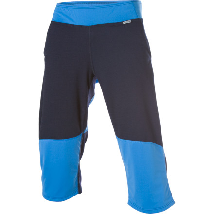 The Houdini Chimney Shorts are an alternative to tight, uncomfortable baselayers. This midweight, 3/4-length bottom is versatile enough to wear under your rain pants or baggy snow pants or on their own for an afternoon of bouldering. Stretchy, recycled Eco Circle Alpha Base and Gaiter Jersey materials wick your sweat. - $43.98