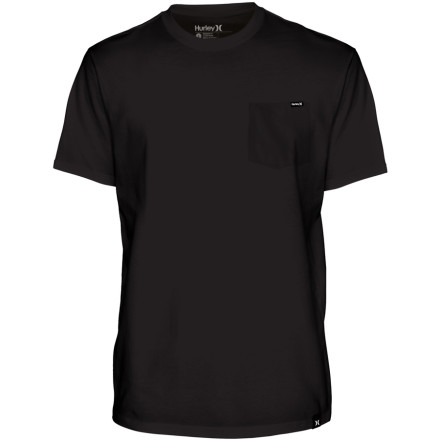 Surf Match the Hurley Staple Pocket Short-Sleeve T-Shirt with your favorite denim for understated, timeless style. - $24.95