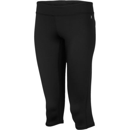 Fitness Keep it fast and lean in the leg-hugging Hurley Women's Pivot Crop Pant, made with Nike Dri-Fit. Its breathable, sweat-wicking performance keeps you cool and dry when you shift into high gear on the road, trail, or yoga studio. And the elastic waistband and shorter length gives you a great fit any day of your action-packed week. - $49.45