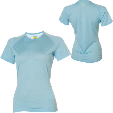 Camp and Hike Go for a trail run or a hike in your Icebreaker Women's BodyFit150 Atlas Short-Sleeve T-Shirt. Icebreaker made the Atlas T-Shirt out of non-itchy merino wool because it transports sweat away from your skin and keeps you comfortable in hot and cool conditions alike. This slim-fit crewneck performance shirt also features underarm gussets, which move seams forward to prevent chafing. - $27.48