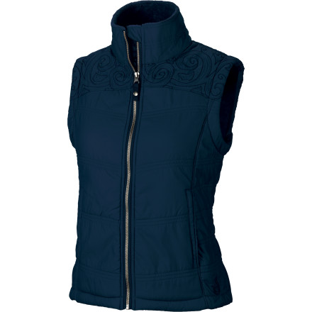 The Isis Women's Bliss Vest keeps you toasty in cool weather without making you look like you were built out of a box. The bliss can be worn as a stand-alone jacket on chilly days or layered over when the temperature really takes a nose-dive. Isis rounds it out with subtle stitched styling cues that don't scream 'look at me,' but add a little extra pizzazz where you need it. - $41.99