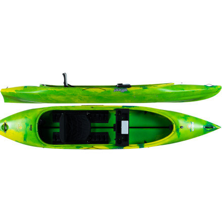 Kayak and Canoe The Jackson Kayak Day Tripper 12 Kayak gives you the open-deck convenience of a canoe with the durability and performance of a kayak. Transport a small child or boat-loving dog in the deck, or just fill up the cockpit space with fishing or camera gear. The padded Elite Seat can be reclined for relaxation, moved forward or backward in the hull to accommodate gear storage, and removed so you have a cushy seat for the beach. The day tray keeps beverages, fishing tackle, or your camera close at hand, and the included dry bag allows you to keep camping gear dry in choppy waters. - $899.00
